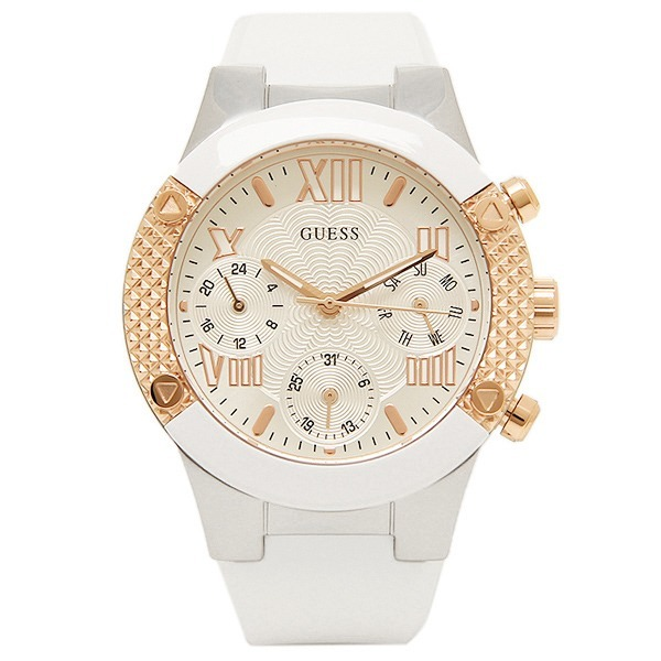 ce3fa8d4ebe6 Reloj Guess Dama Silicona U0773l1 Blanco Original -   539.990 en Mercado  Libre