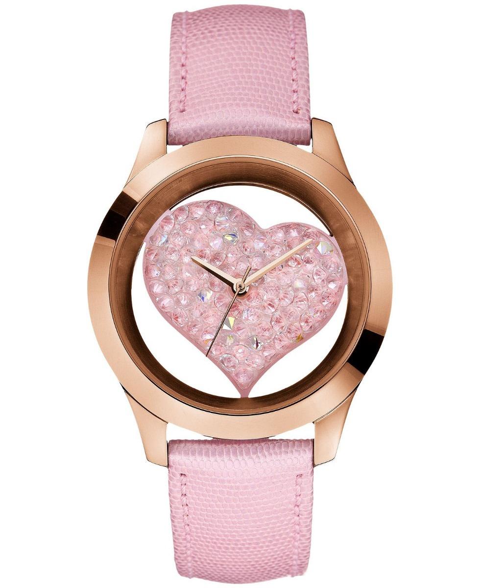 49bf23c72bf6 Reloj Guess De Mujer 43mm U0113l5 Correa De Cuero Rosa - U S 100