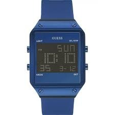 Azul Reloj Mod w0595g2 Original Phombre Color Digital Guess nPkwO0