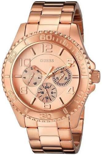 reloj guess  dorado rosa