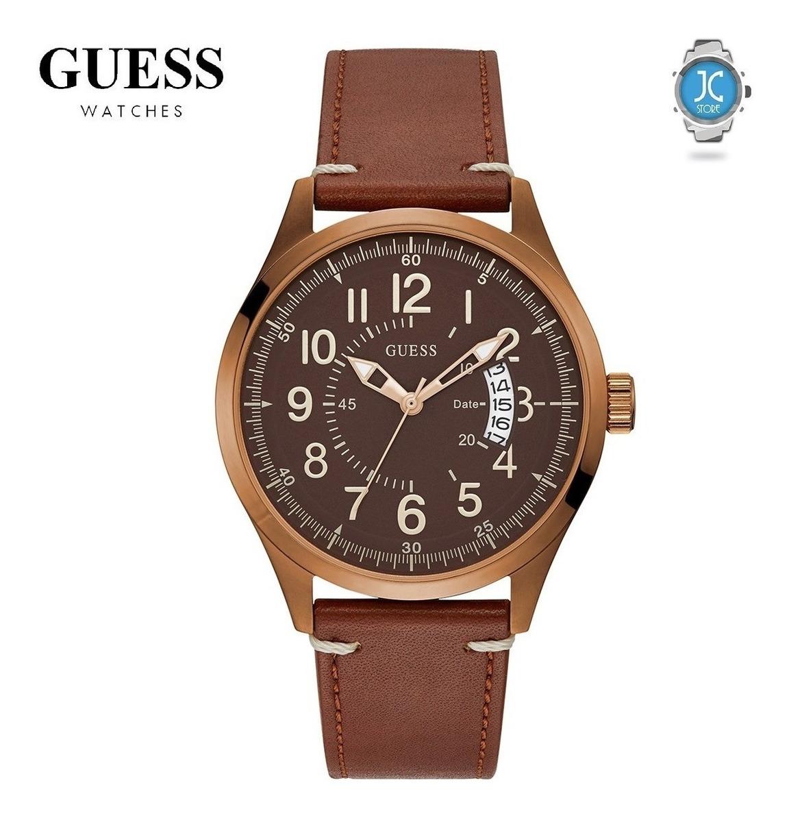 sale retailer 275a0 a6f7b Reloj Guess Elegante - Cuero, Marron - 100% Original En Caja