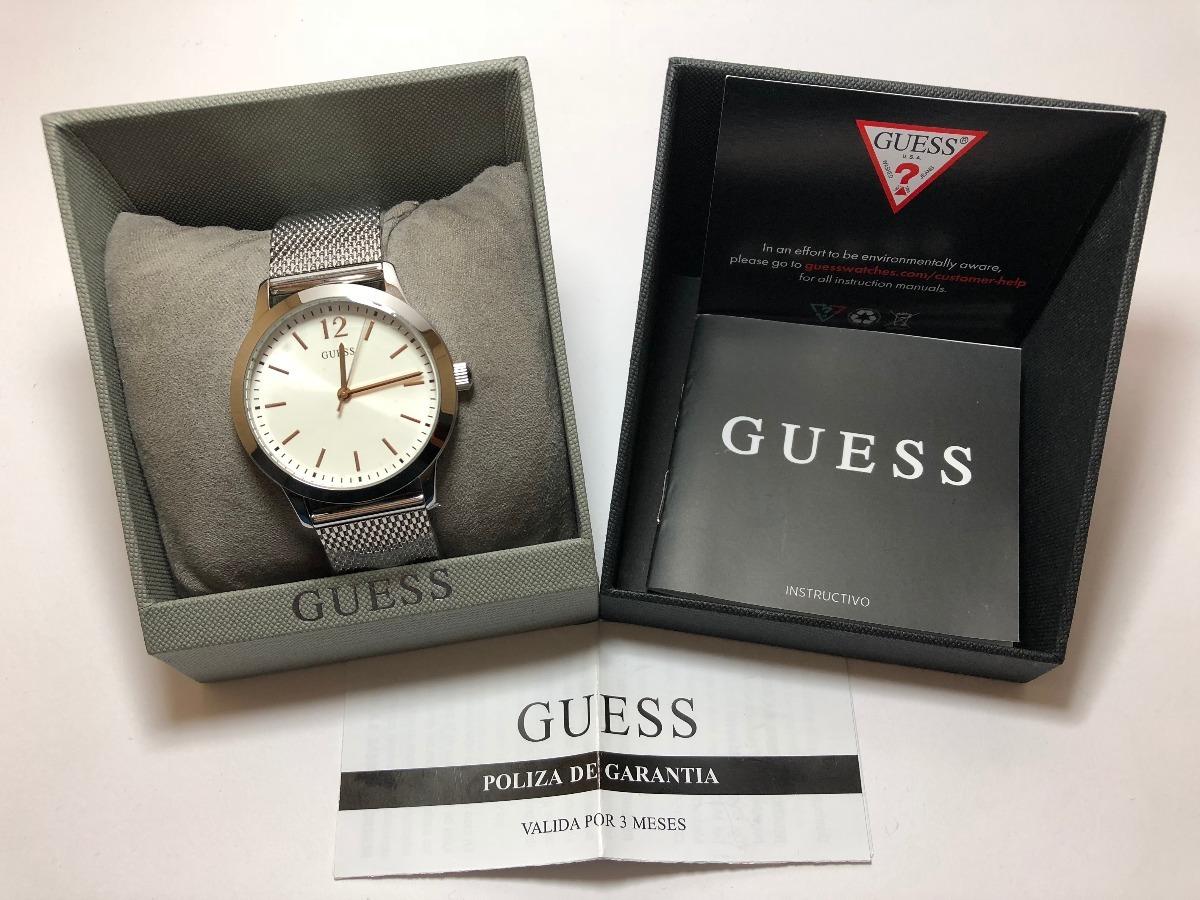 Reloj Para Caballero Guess Exchange Plateado W0921g1 wnOP0k