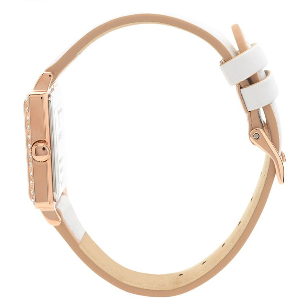 31634851be08 reloj guess highline w0829l11 piel blanco oro rosa de dama. Cargando zoom.