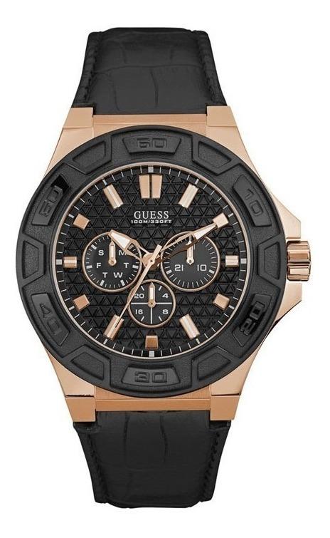 Gratis Guess Garantía Cuero W0674g6 Reloj Envio Hombre bf76yYgv