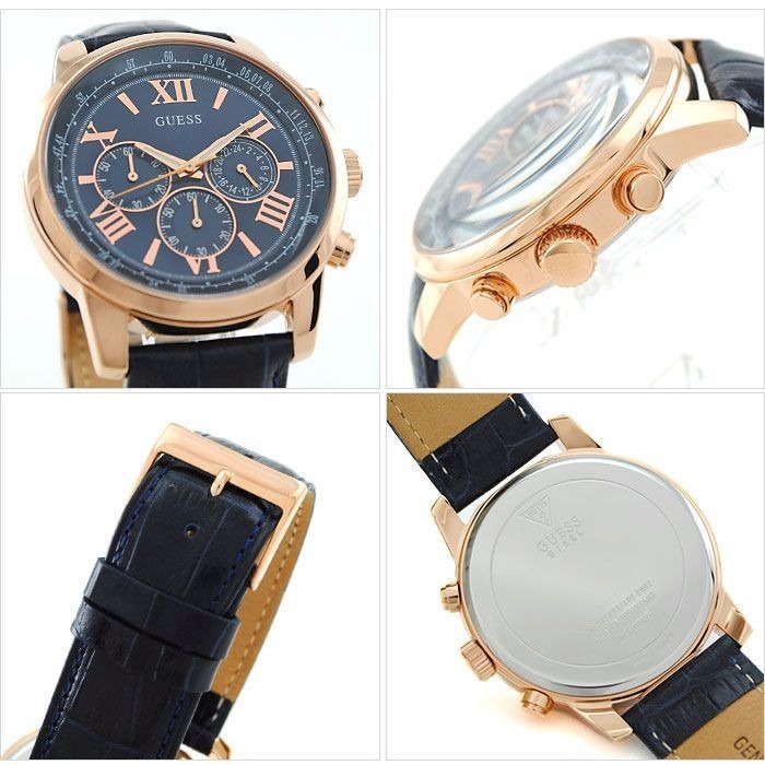 Reloj Guess Horizon W0380g5 Hombre Cuero Azul Ag. Oficial -   2.954 ... 209c676c9497