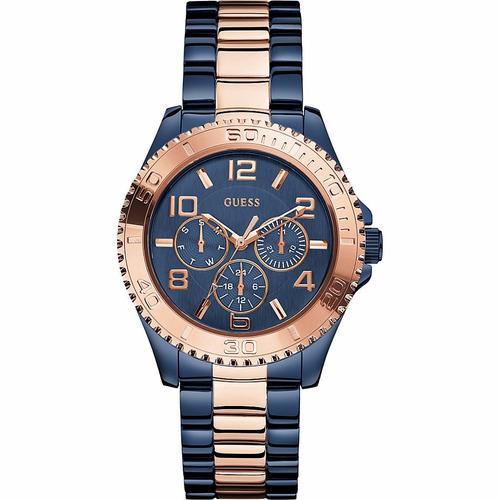 reloj guess mujer acero azul dorado tienda oficial w0231l6