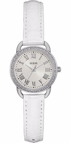reloj guess mujer cuero blanco tienda oficial w0959l1