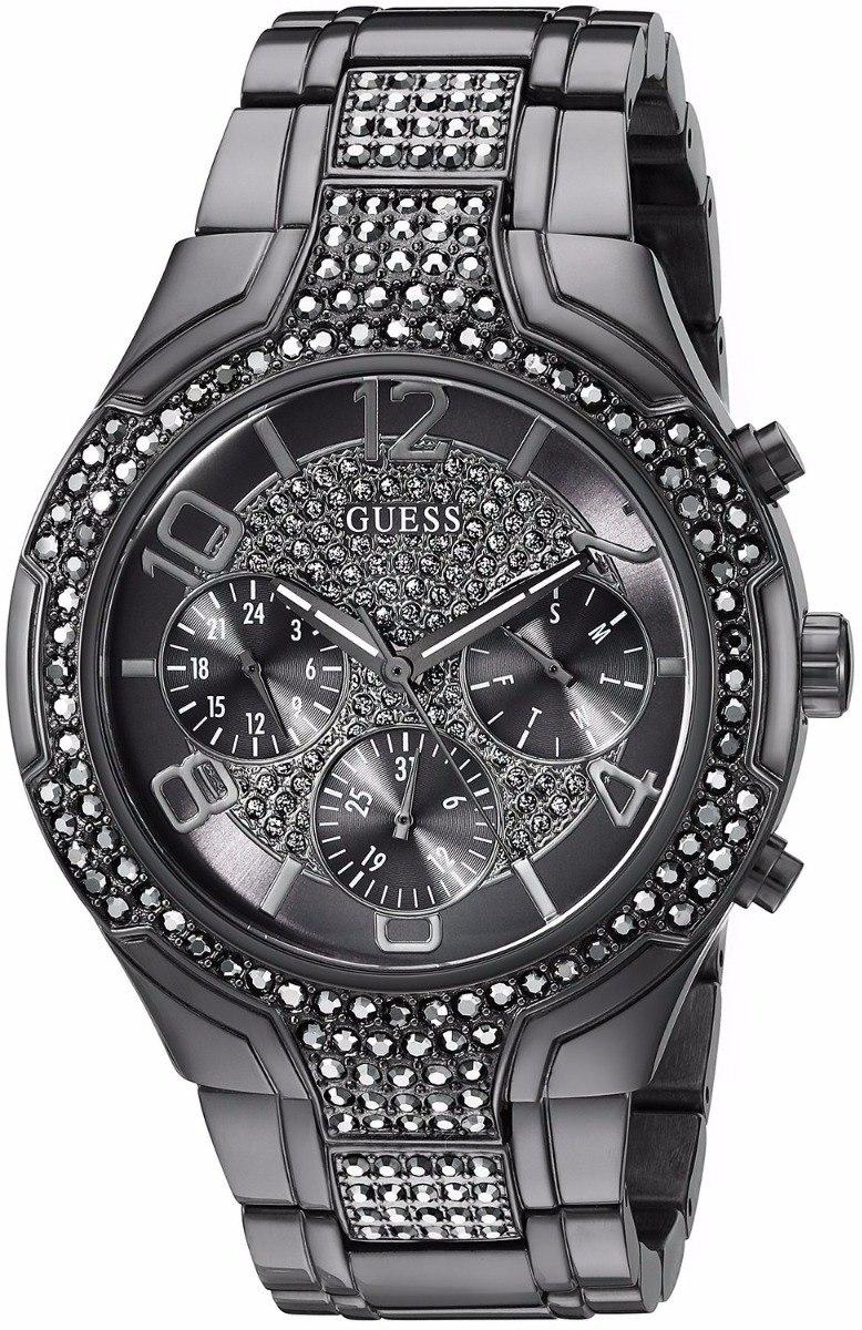 c0b61c87fd78 Reloj Guess Mujer Negro Perlas Exclusivo 100% Original -   195.000 ...