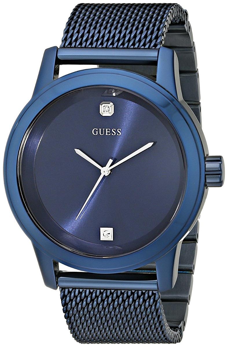 Hombre U0297g2 En Guess Reloj Azul Para Malla tsdxQCBhr