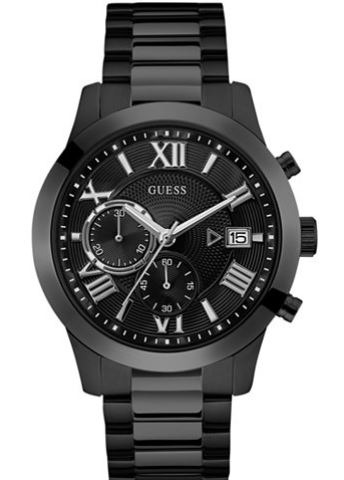 Guess En Para Negro Reloj U0668g5 Acero Hombre Brazalete oedCxB