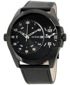 Negro Correa Reloj W0505g5 Guess Cuarzo Para Hombre Tablero 5cj4L3ARq