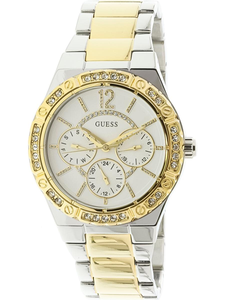 Y Mujer U0845l5 Japones Cuarzo De Guess Para Reloj Plateado OPw0k8n