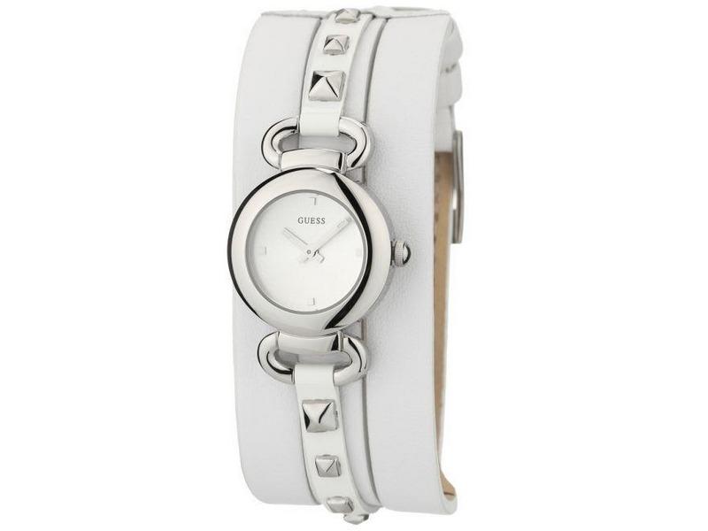 sombras de colores armoniosos precio más bajo con Reloj Guess Para Mujer W0160l1 Brazalete De Cuero Blanco