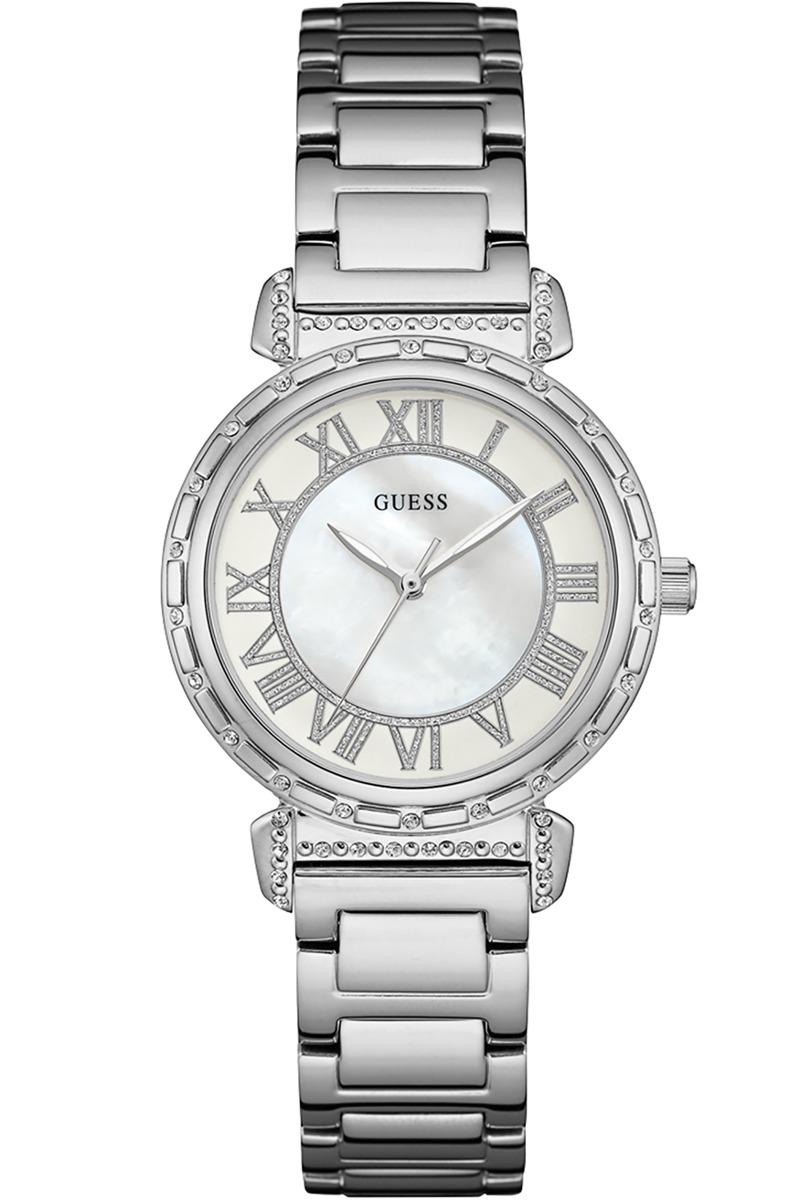 W0831l1 Ladies Acero Para Mujer Reloj DressEn Guess 54q3RjcAL