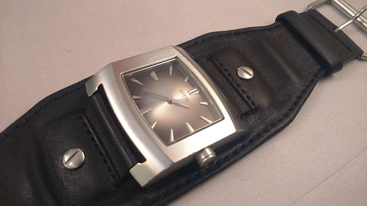 Unisex Negro 000 Reloj Pulsera Remato69 Cuero Guess iXTOuZPk