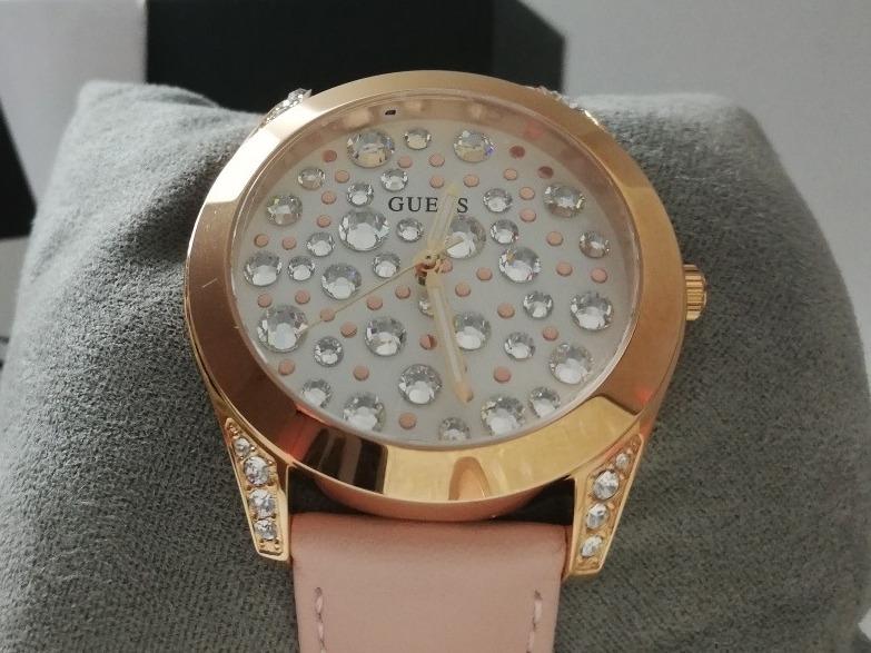 Guess Diamantes Correa Rose Y Reloj Gold Rosa Palo Dama Con 4Aj5L3Rq
