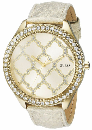 reloj guess sparkling impression acero dorado mujer u0579l1