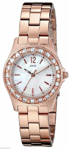 reloj guess sport crystal acero tono oro rosa mujer u0025l3