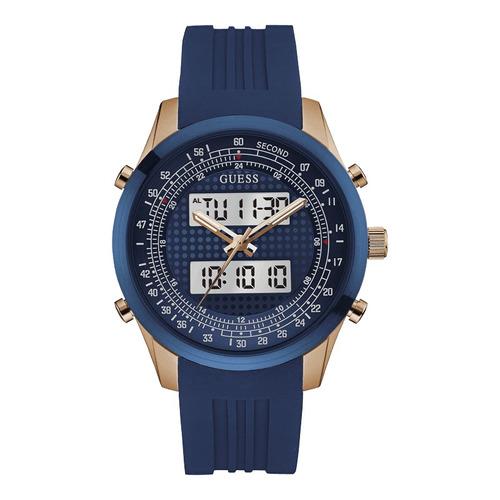 reloj guess u0862g1 azul original hombre