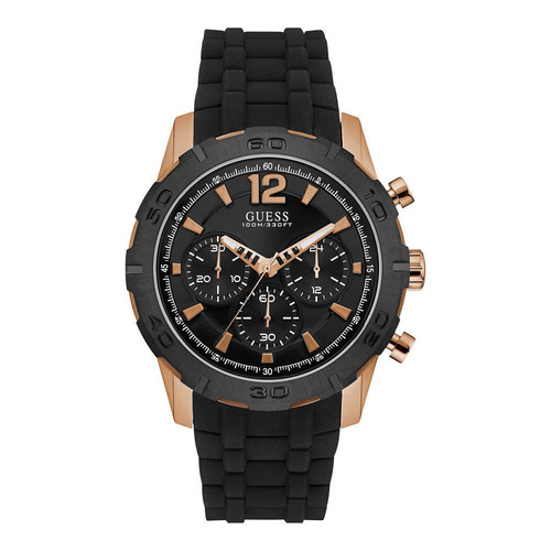 reloj guess u0864g2 negro dorado original hombre