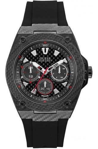 reloj guess u1048g2 negro deportivo original hombre