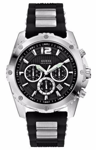 reloj guess w0167g1 cronógrafo wr 30m + envio gratis