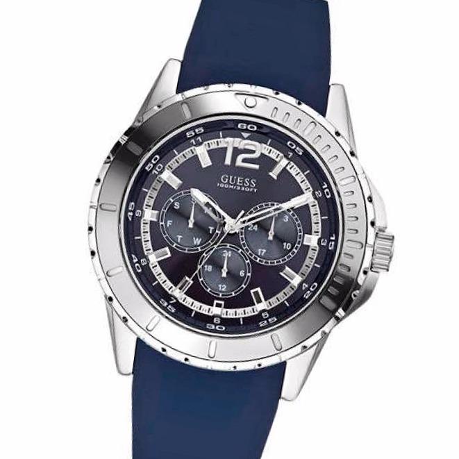 Guess Reloj W0485g3 Malla Acero Multifuncion 100m Silicona xoBeWdrC