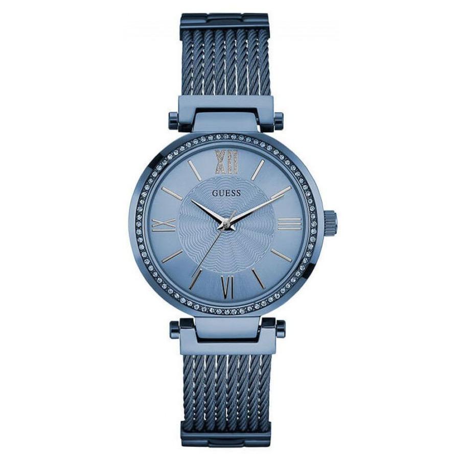Oficial Dama W0638l3 Agente Cristales Acero Guess Reloj 9I2HED