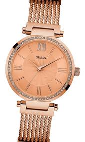 Soho 100Acero Cristal Swarovski Guess Rose Reloj W0638l4 erxodCB