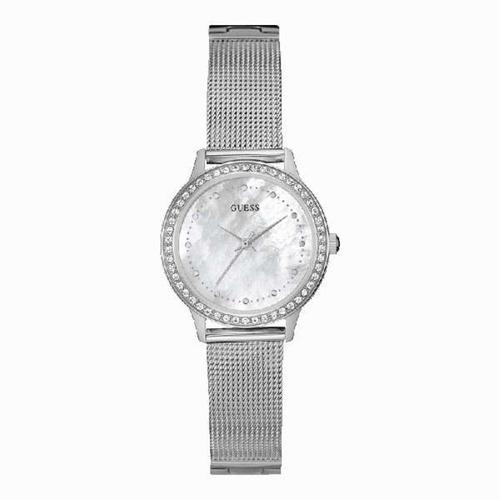 reloj guess w0647l1 plateado original mujer