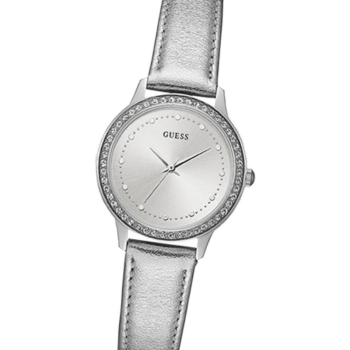 Cuero Guess Swarovski Reloj Acero Chelsea W0648l17 Malla sxhQCtrdB