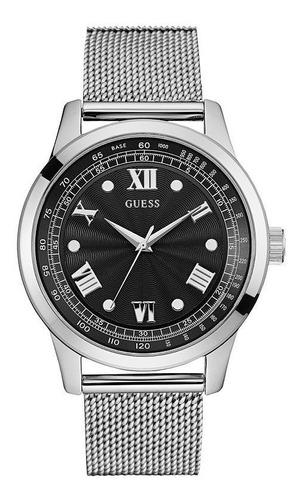 reloj guess w0683g1 plateado original hombre