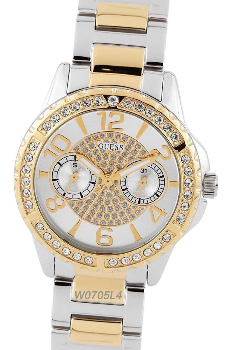 W0705l1 W0705l3 Acero Guess Swarovski Watch Inoxidable Fan W0705l2 Reloj W0705l4 v0wm8Nn