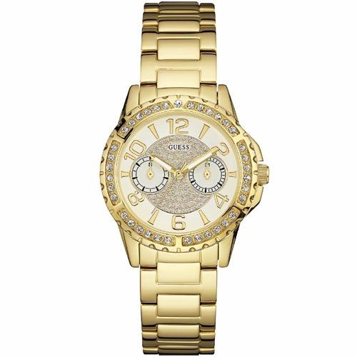 5c3c2dc3db8c Reloj Guess W0705l2 Acero Inox Para Dama Dorado Multidial ...