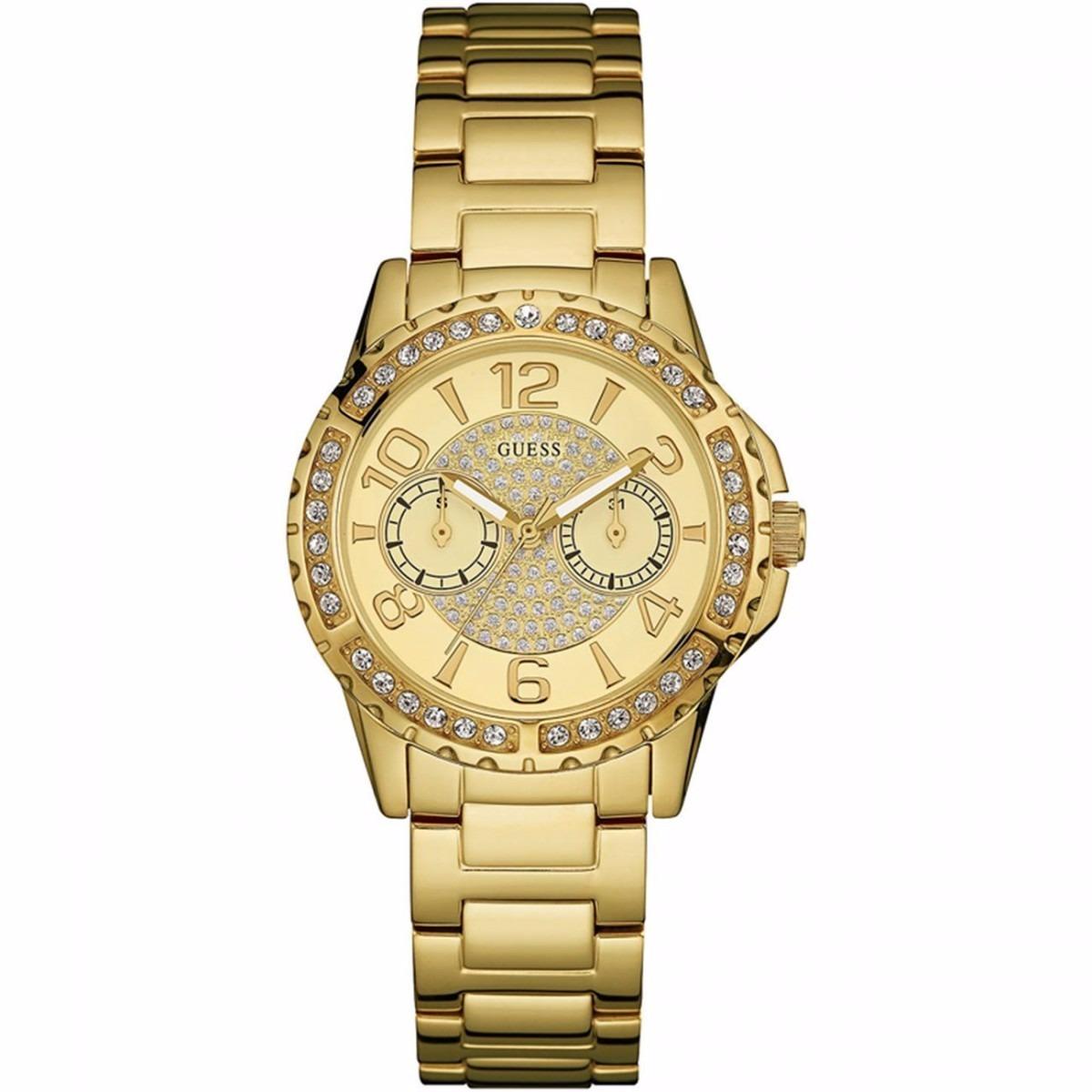 2648d7555317 reloj guess w0705l2 para dama dorado con brillantes original. Cargando zoom.