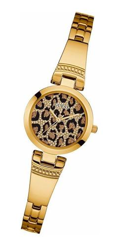 reloj guess w0773l6 100% acero cristal duro animal print 30m