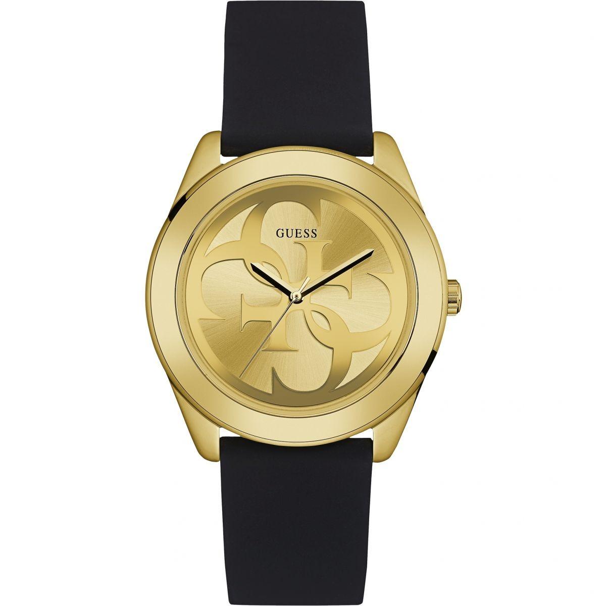 Reloj Y Guess Dama Negro Para W0911l3 Dorado 9W2EHID