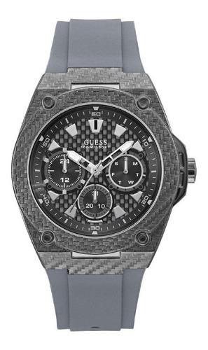 reloj guess w1048g1 hombre acero inoxidable y silicona gris