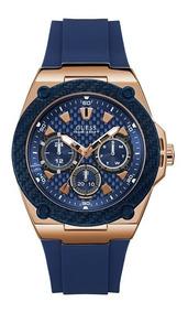 comparar el precio fecha de lanzamiento online Reloj Guess W1049g2 Original Para Hombre Azul Con Oro Rosa