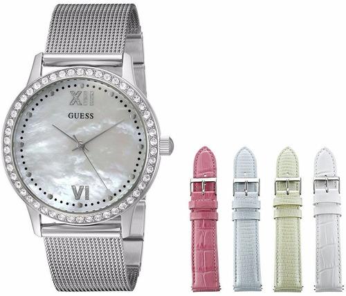 reloj guess wardrobe acero set de correas mujer u0785l1