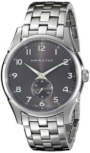 reloj hamilton   40mm  plateado