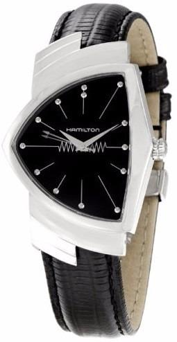 reloj hamilton american ventura piel negra h24411732