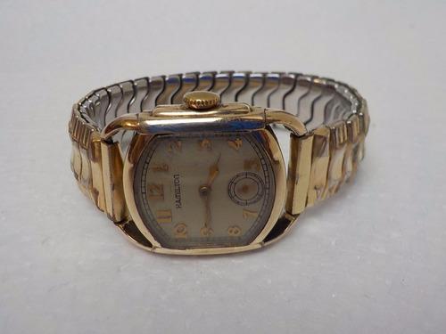 reloj  hamilton chapa de oro de 10 k