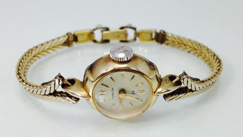 reloj hamilton chapa de oro. (inv 651)