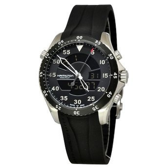 reloj hamilton flight timer negro