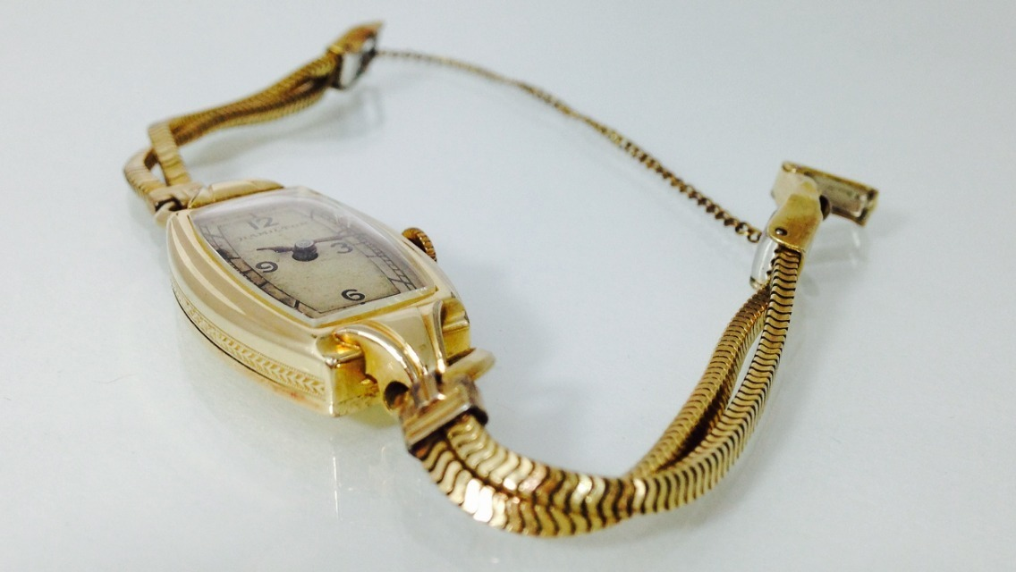Reloj Hamilton Gold Filled 10k P Dama