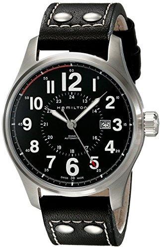 reloj hamilton h negro masculino