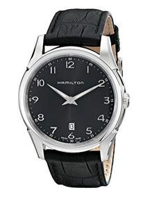 Acero Jazzmaster Piel H38511733 Inox Reloj Hamilton Correa Ygb6vf7y