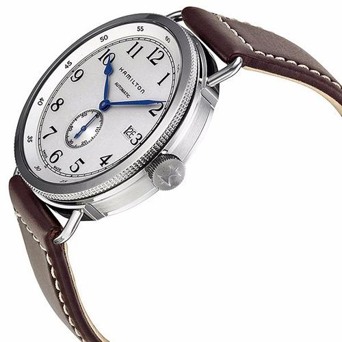 reloj hamilton khaki navy automatico piel cafe h78465553