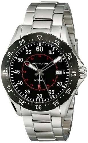 reloj hamilton  plateado